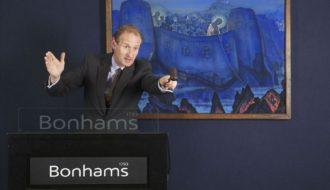 Картина Н.К.Рериха «Мадонна Лаборис»  на торгах аукционного дома Bonhams