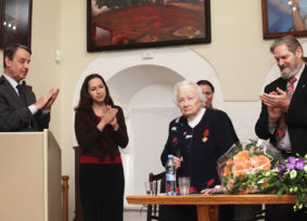 Awarding the Order of Merit IV grade to Lyudmila V. Shaposhnikova