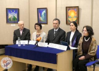 Брифинг участников Совещания международной общественности за сохранение общественного Музея имени Н.К. Рериха