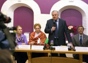 Press-Conference at Nicholas Roerich Museum of ICR