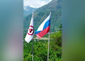В России сняли Знамя Мира — в мире начали снимать флаг России // Конт. Drolma1