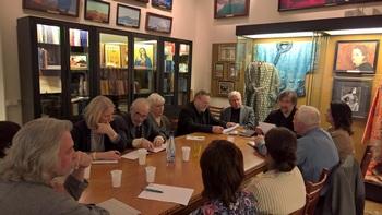 Совместное заседание ГМВ и НРК. Во главе стола – Т.Мкртычев. 1 марта 2017 г.
