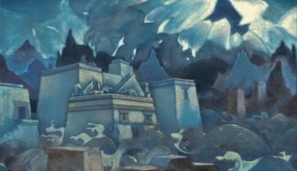 "Nicholas Roerich's picture ""The Last Atlantes"""