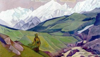 "Nicholas Roerich's picture ""Ienno Guio Dia – Friend of Travelers"""