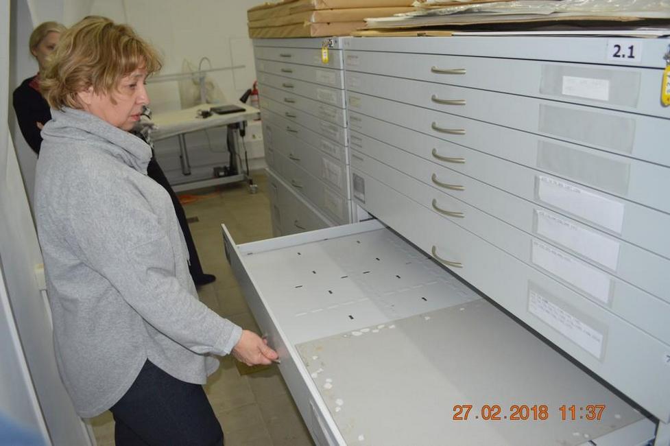 Пустой депозитарий Музея имени Н.К.Рериха после захвата