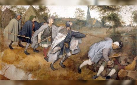 Питер Брейгель Старший. Притча о слепых. 1568 г.